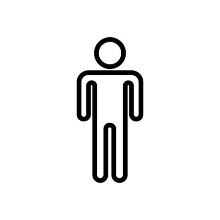 Men s toilet icon vector. A thin line sign. Isolated contour symbol illustration