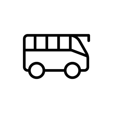 Tourist bus icon vector. A thin line sign. Isolated contour symbol illustration Ilustração