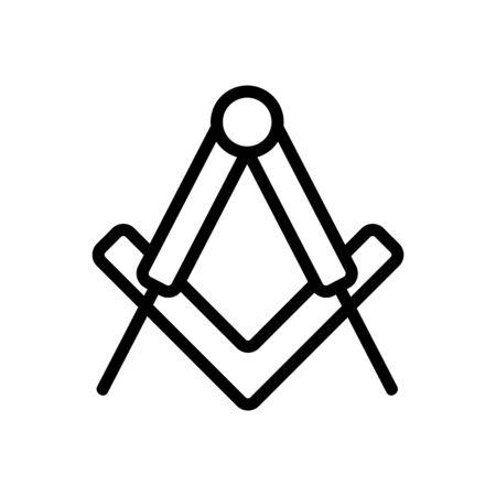 ritual sign icon vector. A thin line sign. Isolated contour symbol illustration Illusztráció