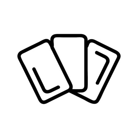 Magic card icon vector. A thin line sign. Isolated contour symbol illustration 일러스트