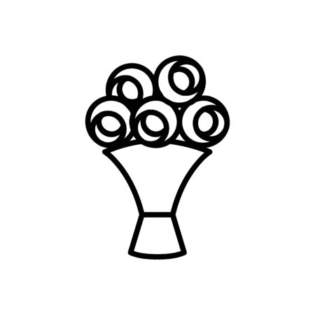 A bouquet of flowers icon vector. A thin line sign. Isolated contour symbol illustration Reklamní fotografie - 135402779