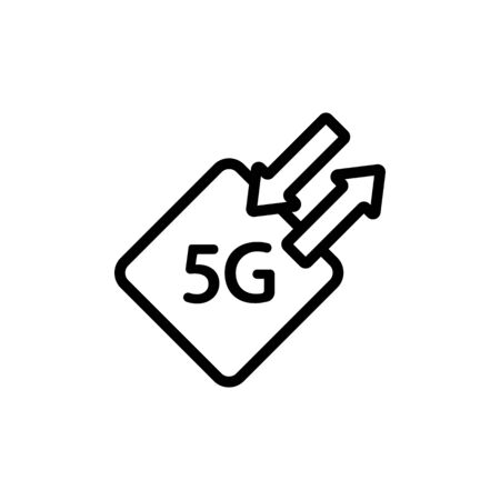 High speed internet icon vector. A thin line sign. Isolated contour symbol illustration