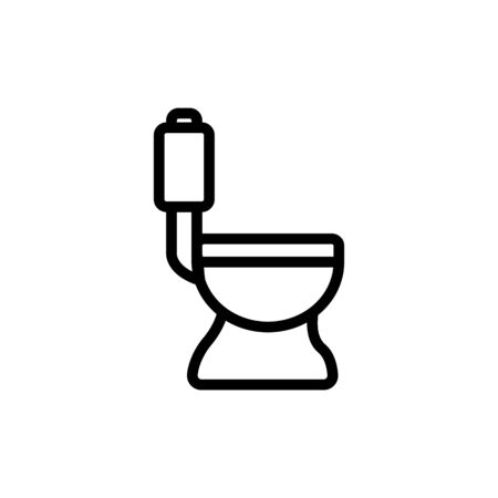 Pointer toilet icon vector. A thin line sign. Isolated contour symbol illustration