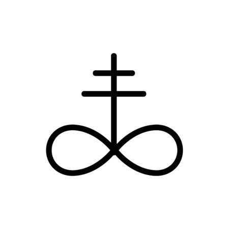 Magic sign icon vector. A thin line sign. Isolated contour symbol illustration