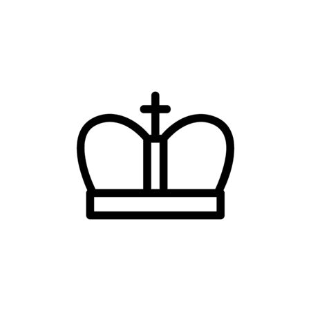 Crown with diamonds icon vector. A thin line sign. Isolated contour symbol illustration