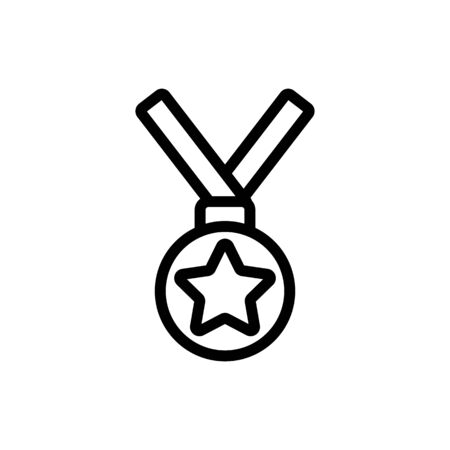 Gold Medal icon vector. A thin line sign. Isolated contour symbol illustration Ilustração
