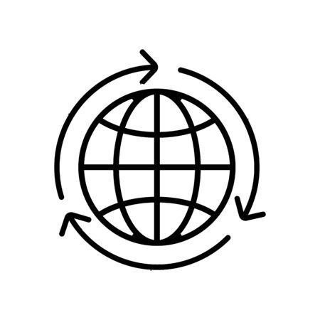 the global industry icon vector. A thin line sign. Isolated contour symbol illustration Stock Illustratie