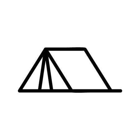 Tourist tent icon vector. A thin line sign. Isolated contour symbol illustration  イラスト・ベクター素材