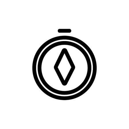 compass icon vector. A thin line sign. Isolated contour symbol illustration