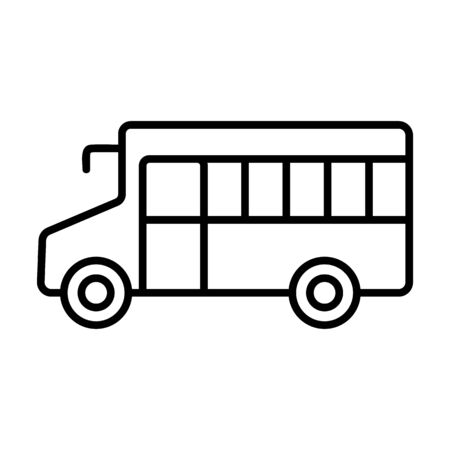 Bus icon vector. A thin line sign. Isolated contour symbol illustration