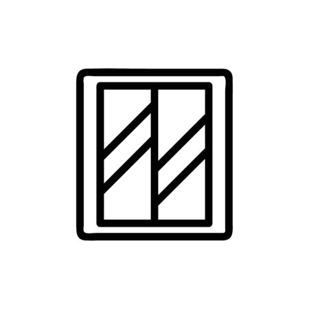 Elevator door icon vector. A thin line sign. Isolated contour symbol illustration