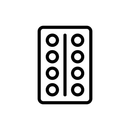 The buttons in the elevator are the vector icon. A thin line sign. Isolated contour symbol illustration Illustration