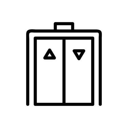 elevator icon vector. A thin line sign. Isolated contour symbol illustration Ilustração