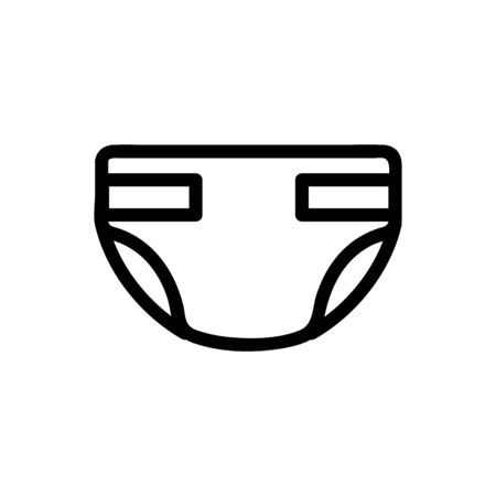 diapers for adult vector icon. A thin line sign. Isolated contour symbol illustration