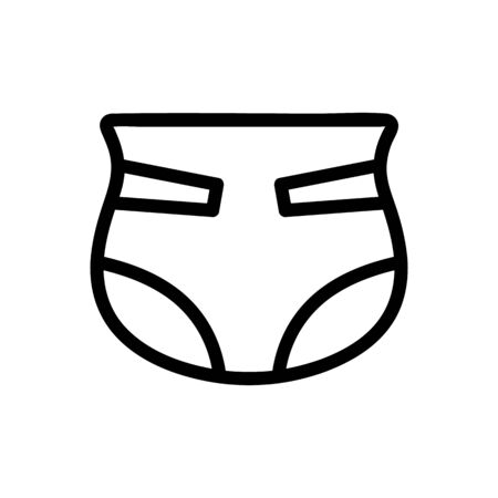 baby diapers icon vector. A thin line sign. Isolated contour symbol illustration
