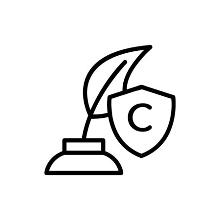 Journalism icon vector. A thin line sign. Isolated contour symbol illustration
