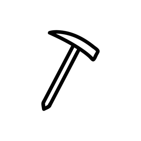Tourist axe icon vector. A thin line sign. Isolated contour symbol illustration Ilustração