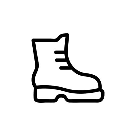Tourist shoes icon vector. A thin line sign. Isolated contour symbol illustration