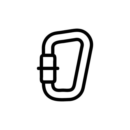 The climber s katainus is a vector icon. A thin line sign. Isolated contour symbol illustration