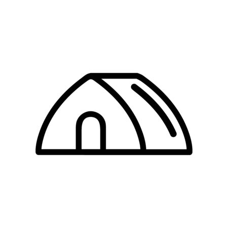 Tourist tent icon vector. A thin line sign. Isolated contour symbol illustration Ilustração