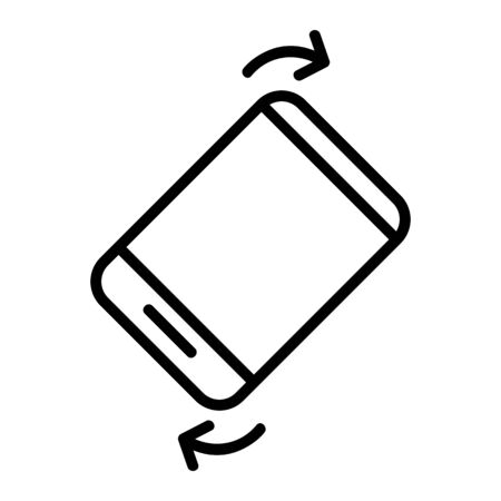 book view feature vector icon. A thin line sign. Isolated contour symbol illustration 일러스트