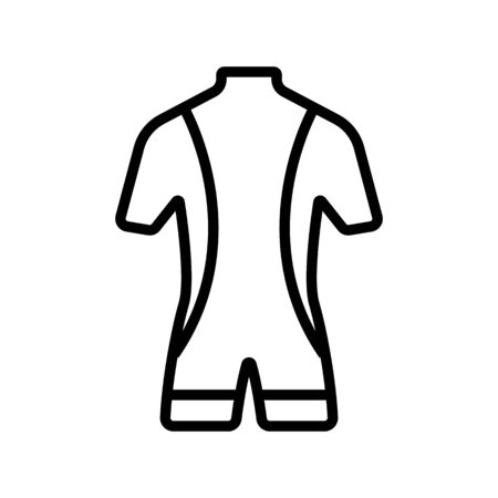 Costume scuba diver icon vector. A thin line sign. Isolated contour symbol illustration Illustration