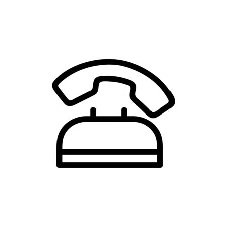 call to the working phone icon vector. A thin line sign. Isolated contour symbol illustration