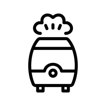 Air moisturiser icon vector. A thin line sign. Isolated contour symbol illustration