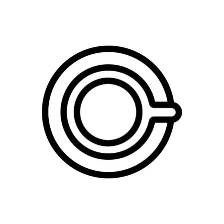 cup of coffee icon vector. A thin line sign. Isolated contour symbol illustration