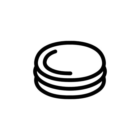 Burger cutlet icon vector. A thin line sign. Isolated contour symbol illustration