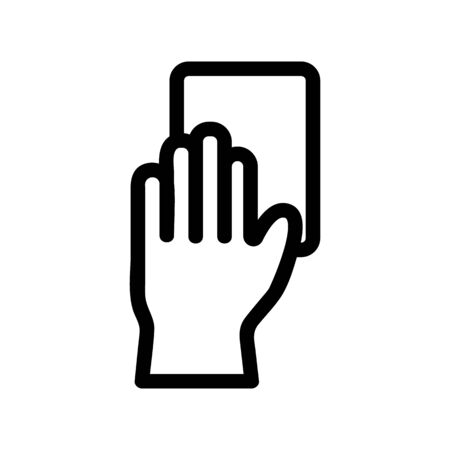 gloves for cleaning the vector icon. A thin line sign. Isolated contour symbol illustration Ilustração