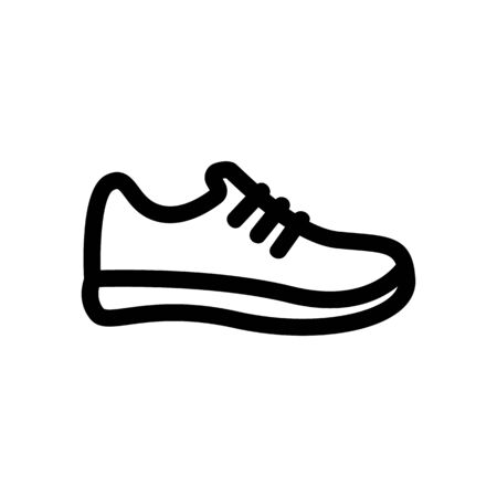 Sneakers icon vector. A thin line sign. Isolated contour symbol illustration