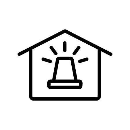 Smart house icon vector. A thin line sign. Isolated contour symbol illustration Illustration