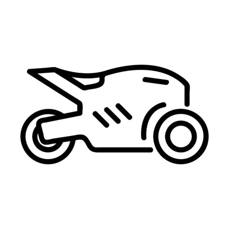 motorcycle icon vector. A thin line sign. Isolated contour symbol illustration