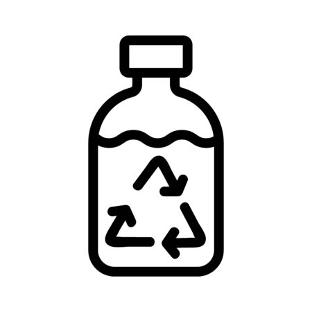 purified water icon vector. A thin line sign. Isolated contour symbol illustration