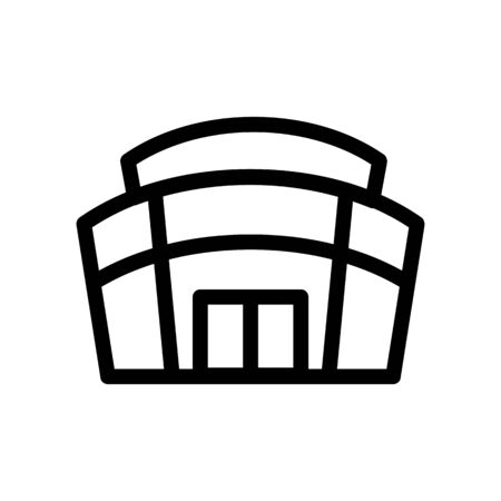 Stadium icon vector. A thin line sign. Isolated contour symbol illustration