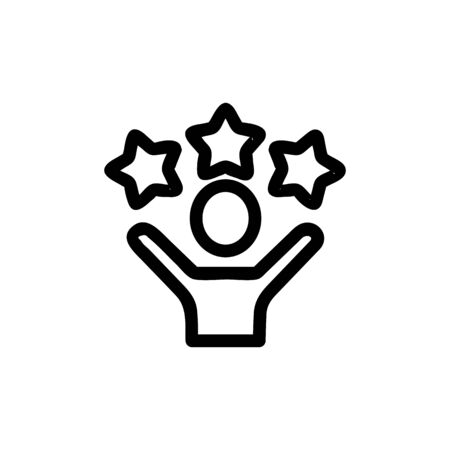 Star party icon vector. A thin line sign. Isolated contour symbol illustration 일러스트