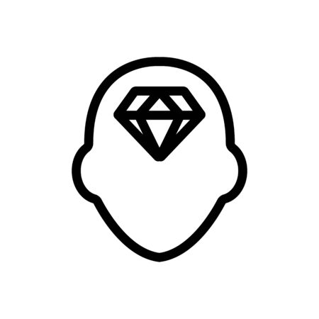 Superb mindset icon vector. A thin line sign. Isolated contour symbol illustration