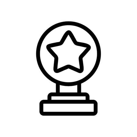 Grand prix icon vector. A thin line sign. Isolated contour symbol illustration
