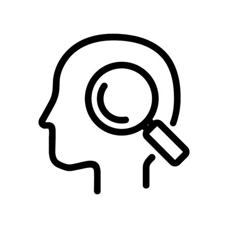 Practical mindset icon vector. A thin line sign. Isolated contour symbol illustration