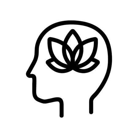 artistic-shaped mindset icon vector. A thin line sign. Isolated contour symbol illustration 일러스트