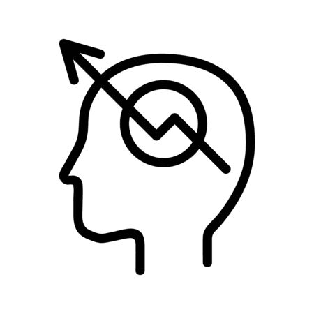 mathematical mindset icon vector. A thin line sign. Isolated contour symbol illustration