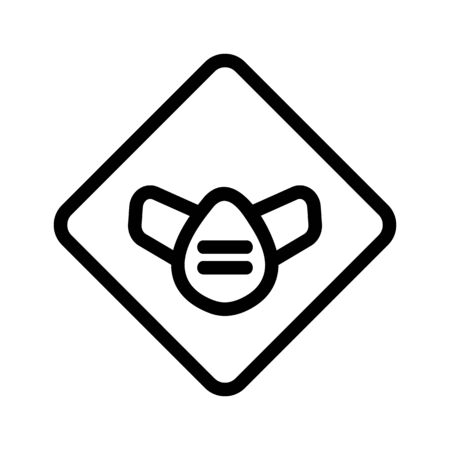 Protective gas mask icon vector. A thin line sign. Isolated contour symbol illustration  イラスト・ベクター素材