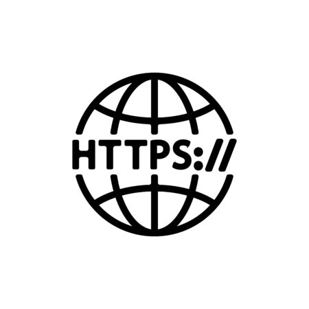 https protocol vector thin line sign. Isolated contour symbol illustration