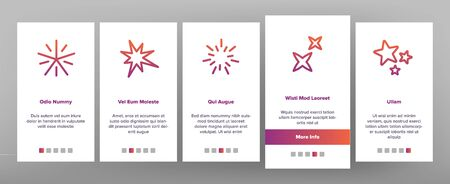 Spark And Sparkle Star Onboarding Mobile App Page Screen Vector
