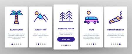 California Onboarding Mobile App Page Screen Vector