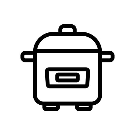 Slow cooker icon vector. A thin line sign. Isolated contour symbol illustration Vektoros illusztráció