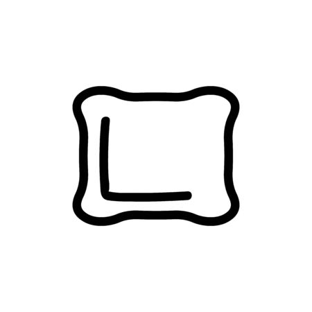 Pillow for sleep icon vector. A thin line sign. Isolated contour symbol illustration
