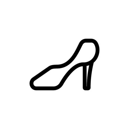 Women shoe icon vector. A thin line sign. Isolated contour symbol illustration Stock Illustratie