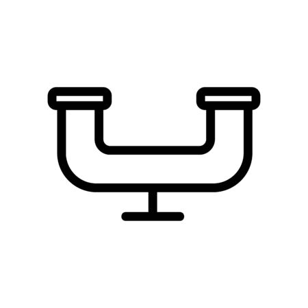 water pipe icon vector. A thin line sign. Isolated contour symbol illustration